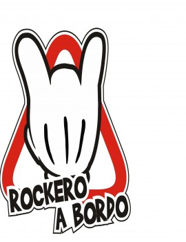 Pegatina Rockero a Bordo MM