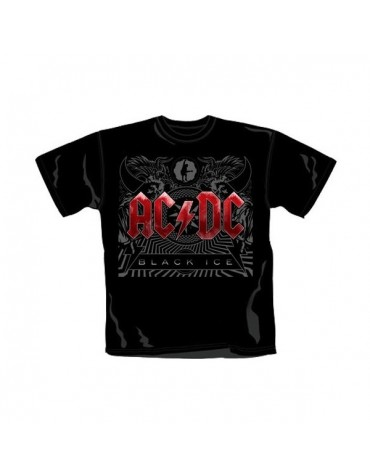 Camiseta Ac/dc Black Ice Roja