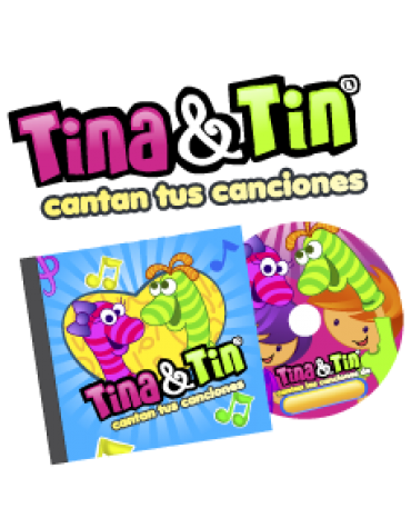 CD Tina y Tin Canciones personalizadas
