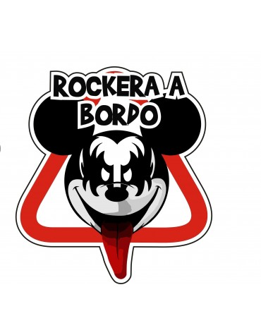 Pegatina Rockera a bordo Mickiss