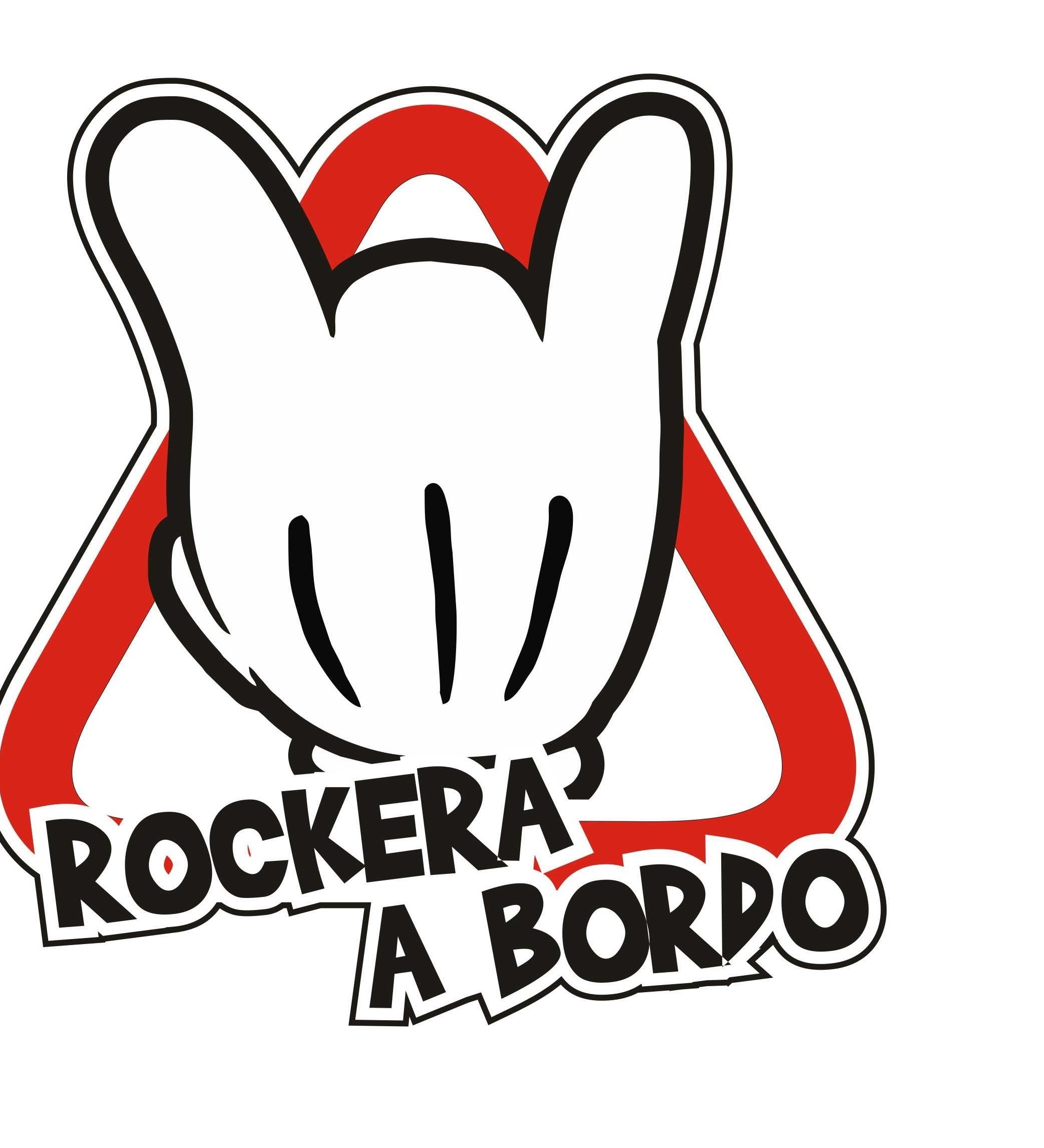pegatina rockera a bordo mm
